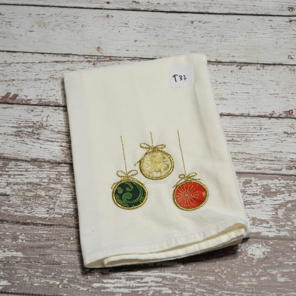 *SECONDS* Tea Towel - Hanging Ornaments - T33