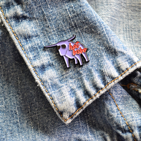 READY TO SHIP - HOT BABE Enamel Pin - babe the blue ox - Minnesota Enamel Pins