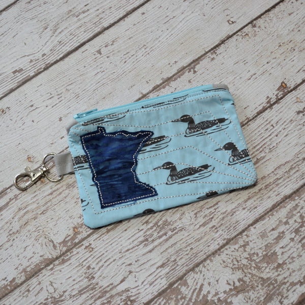 READY TO SHIP - Minnesota Loon Coin Purse