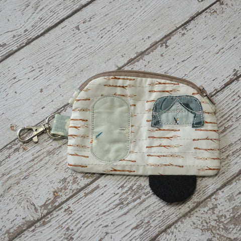 READY TO SHIP - Camper Coin Purse - Smores
