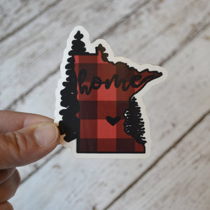 "NEW! Ready to ship - 'MN home' Vinyl Sticker - 2.7"" x 3"""