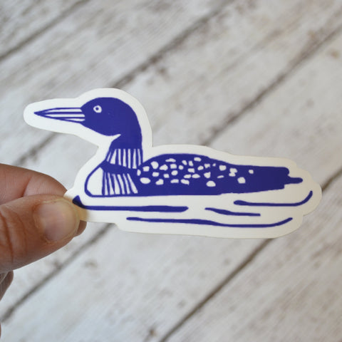 "NEW! Ready to ship - 'Loon' Vinyl Sticker - 4"" x 2"""