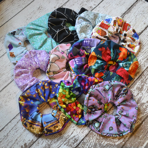Scrunchies! Limited Quantities - Choose pattern in drop down box