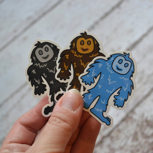 "NEW! Ready to ship - 'Bigfoot' Vinyl Sticker - 1.7"" x 2.2"""