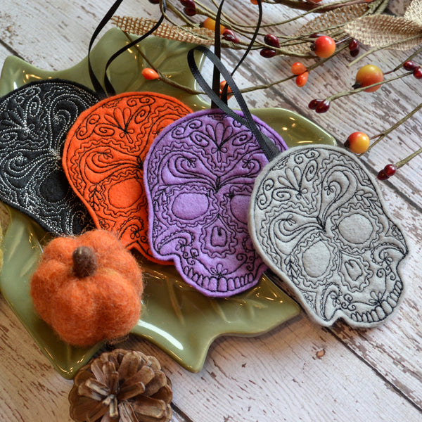 Ready to ship - NEW! Skull Felt Ornament