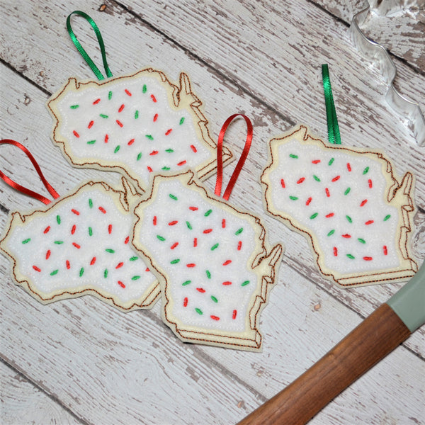 State Sugar Cookie Felt Ornament