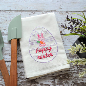 Hoppy Easter Floursack Towel - Easter Bunny