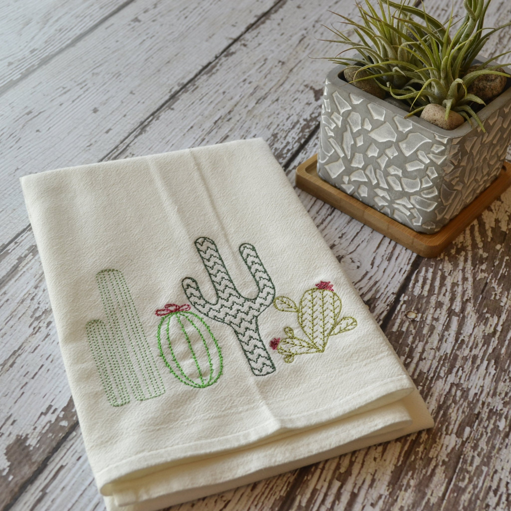 Cacti Tea Towel