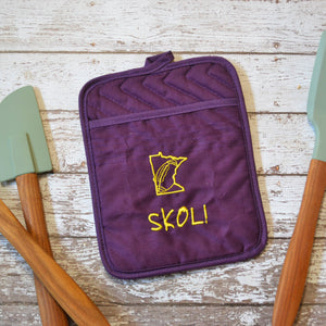 READY TO SHIP - SKOL Hot Pad - Purple Oven Mitt