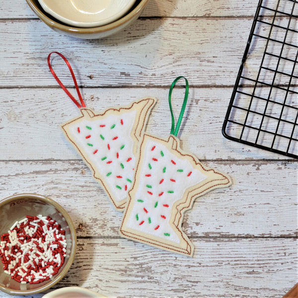 READY TO SHIP - Minnesota Sugar Cookie Felt Ornament