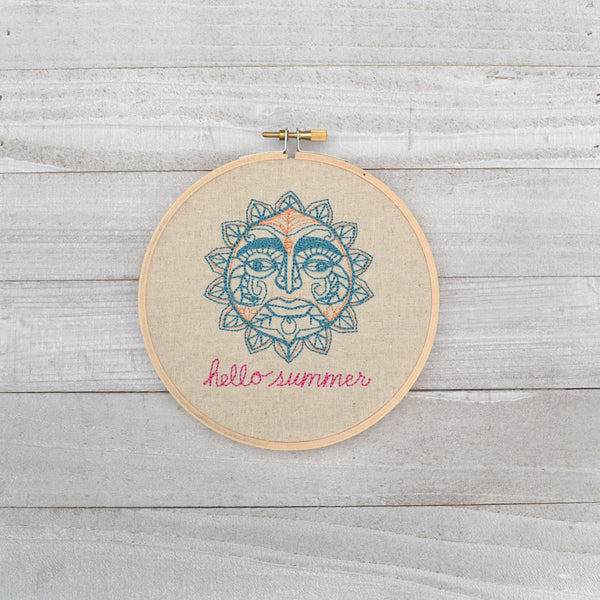 Hello Summer Hoop Art