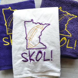 Minnesota Football Themed Towel - 3 towel options