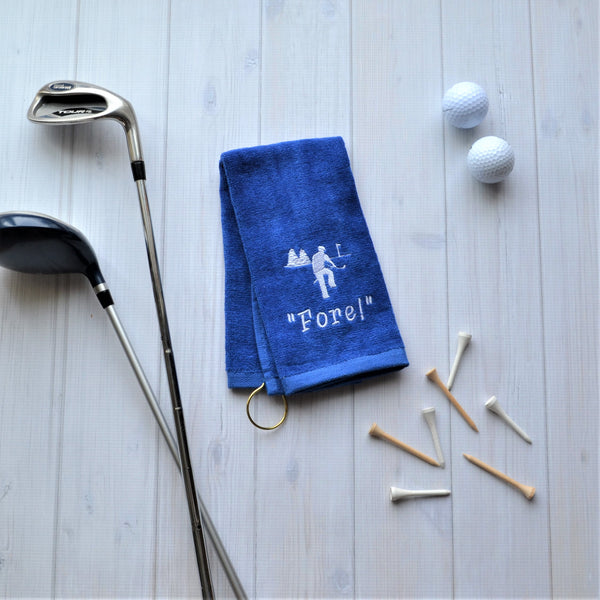 Mad Golfer Golf Towel FORE, LIMITED QTY LEFT, NO RESTOCKS AVAILABLE