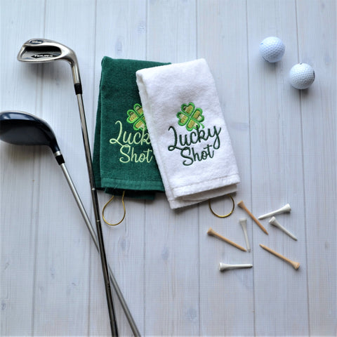 Lucky Shot Golf Towel, LIMITED QTY LEFT, NO RESTOCKS AVAILABLE