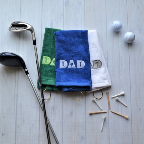 DAD Golf Towel, LIMITED QTY LEFT, NO RESTOCKS AVAILABLE