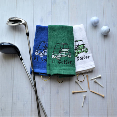Golf Cart Golf Towel, LIMITED QTY LEFT, NO RESTOCKS AVAILABLE