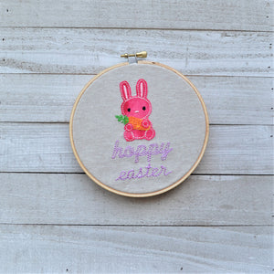Hoppy Easter Hoop Art