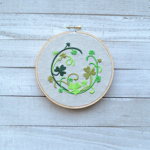 Shamrock Laurel Hoop Art