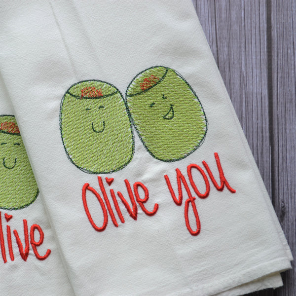 Olive You - Tea Towel
