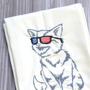 Patriotic Pets Tea Towel - Cat, Dog or Cat & Dog