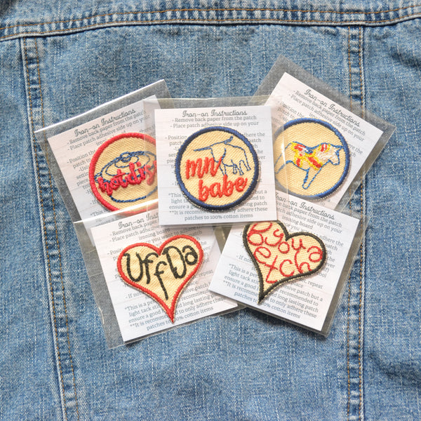 READY TO SHIP - Everyday Mix & Match MN Iron-on Patches