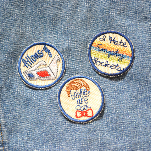 READY TO SHIP - Mix & Match Iron-on Patch - small 2 inch patch - Doctor patches