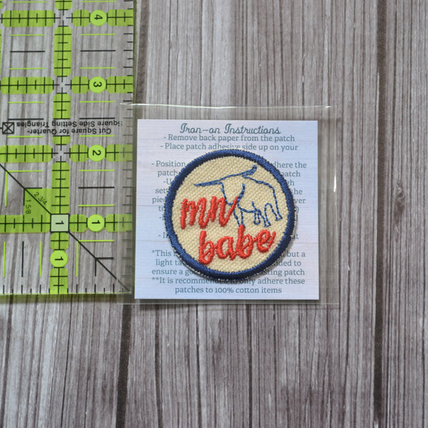 READY TO SHIP - Everyday Mix & Match Iron-on Patch - small 2 inch patch - minnesota patches - cat mom - dog mom - mn babe - dala horse - uffda - you betcha - hotdish