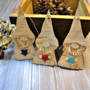 READY TO SHIP - Birch Bark Gnome Ornament