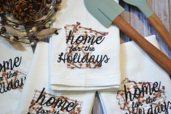Home For The Holidays State Tea Towel - All 50 States