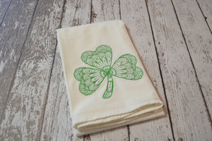 *SECONDS* Tea Towel - Lace Shamrock - T13