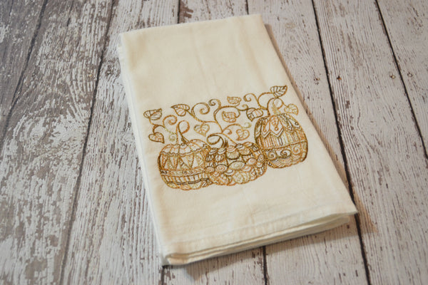 *SECONDS* Tea Towel - Lace Pumpkins - T19