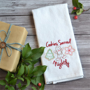 Cookies Served Nightly Terry Velour Hand Towel - Christmas