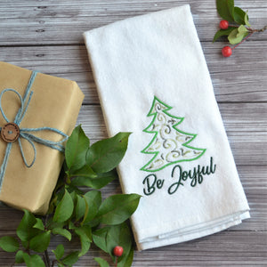 Be Joyful Terry Velour Hand Towel - Christmas