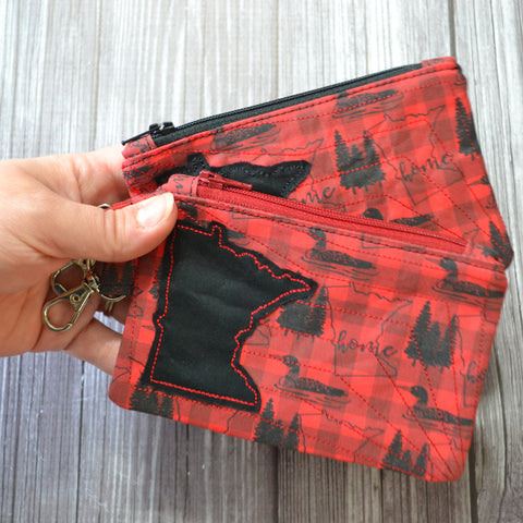 READY TO SHIP - Minnesota Buffalo Plaid Coin Purse