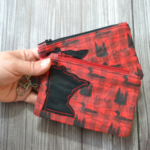 READY TO SHIP - Minnesota Plaid Coin Purse