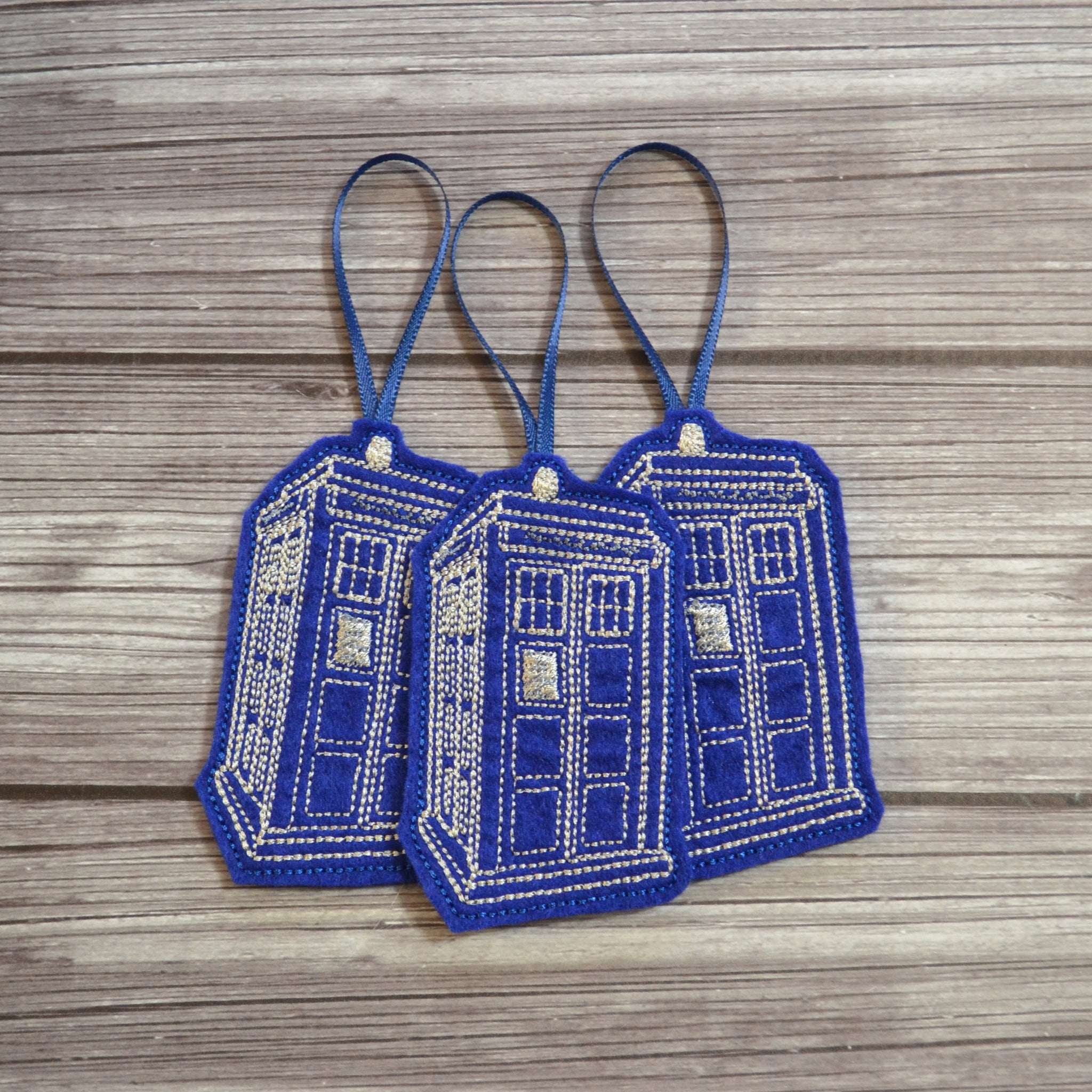 READY TO SHIP - Tardis Felt Ornament