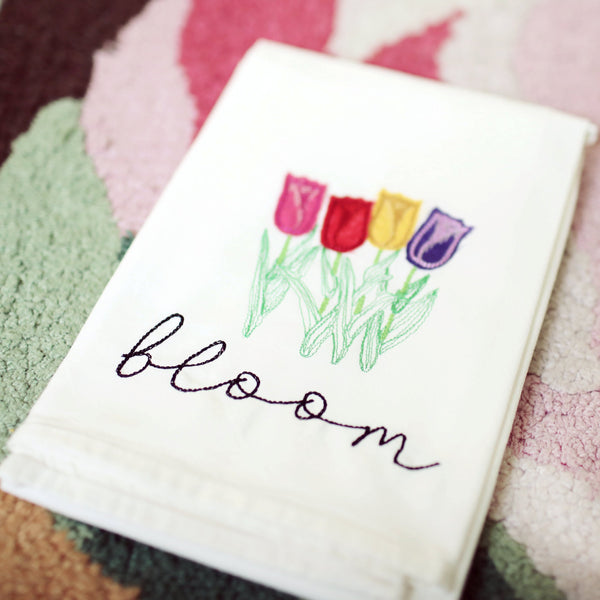 Spring Bloom Tea Towel