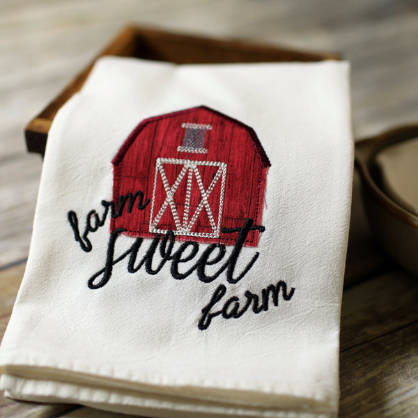Farm Sweet Farm Floursack Towel