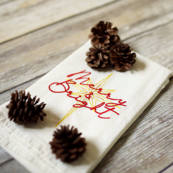 Merry & Bright Tea Towel - Christmas