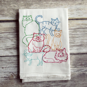 Lots of Cats Tea Towel