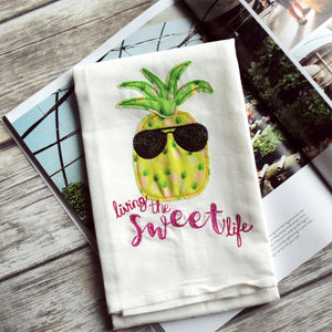 Pineapple - Living the Sweet Life Tea Towel