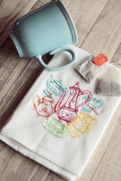 Teapots - 30x30 Kitchen Tea Towel