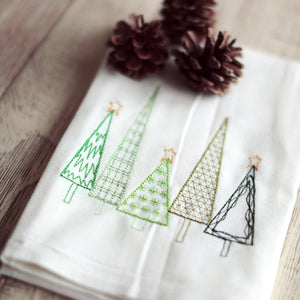 X-mas Trees Tea Towel - Christmas