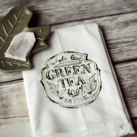 Green Tea - Tea Towel
