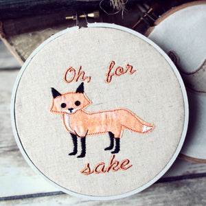 Oh, For 'Fox' Sake Hoop Art