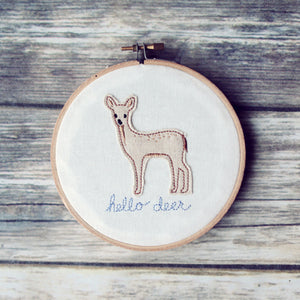 Hello Deer Hoop Art