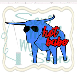 PRE-ORDER - HOT BABE Enamel Pin - babe the blue ox - Minnesota Enamel Pins