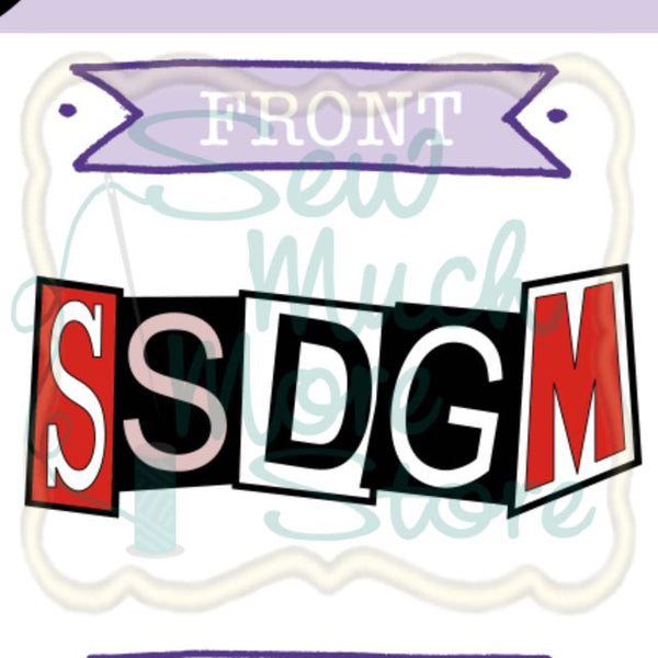 READY TO SHIP - SSDGM Enamel Pin - SewMuchMoreStore Design