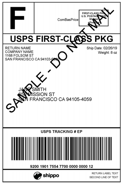 Upgrade Shipping Service - Add Tracking or Upgrade to Priority Mail