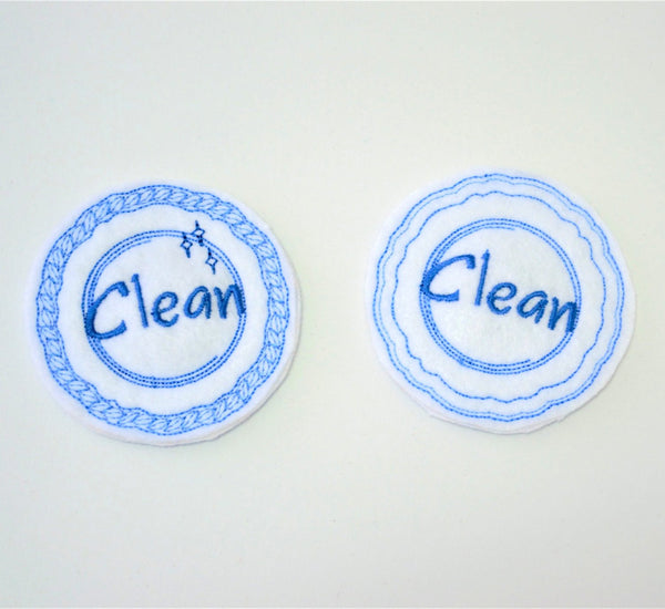 Reversable Clean/Dirty Plate Dishwasher Magnet